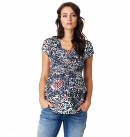 Noppies Jane cap sleeve print nursing top