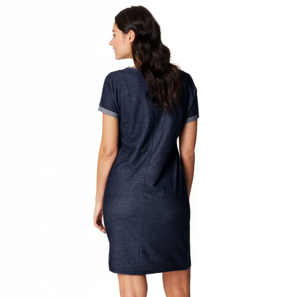 Maure maternity denim dress