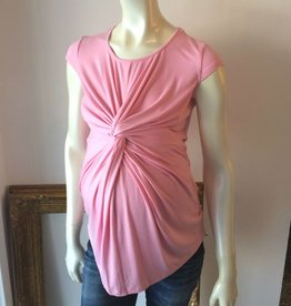 Ashley Nicole Pink maternity knot top