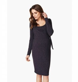 Giulia Nursing Sweater Dress in Purple