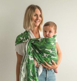Junior Foxes Junior Foxes ring sling linen print Palms