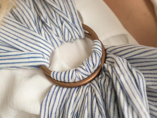 Junior Foxes Junior Foxes ring sling Tides striped linen