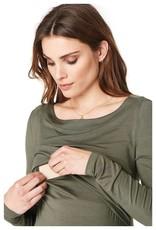 Noppies Hanna long sleeve nursing top in Army