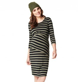 Heidi striped nursing dress