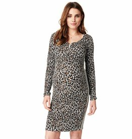 Hilly Leopard print nursing dress