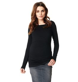 Hanna long sleeve nursing top in Black