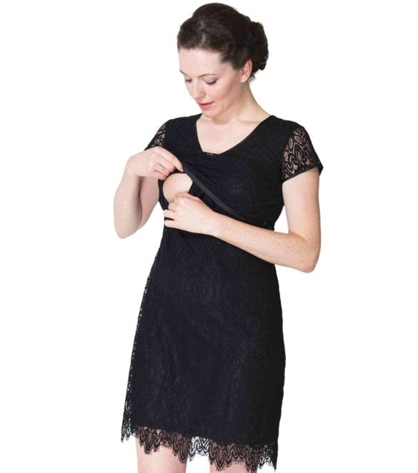 Momzelle Ella lace nursing dress
