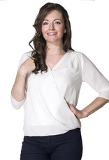 Momzelle Jessica Chiffon nursing top in Ivory