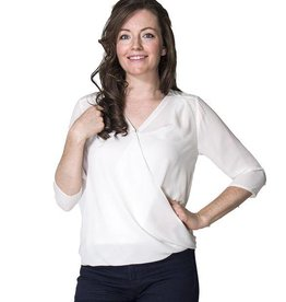 Jessica Chiffon nursing top in Ivory