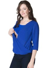 Momzelle Jessica Chiffon nursing top in Royal Blue