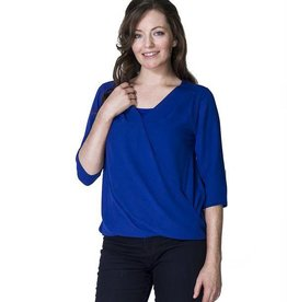 Jessica Chiffon nursing top in Royal Blue