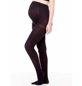 Chevron Pattern Maternity tights