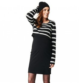 Imara knit colourblock nursing dress