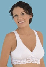 Carriwell Lace Nursing bra in White