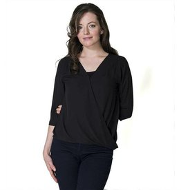 Jessica Chiffon nursing top in Black