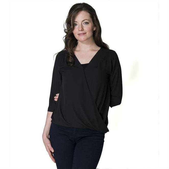 Momzelle Jessica Chiffon nursing top in Black