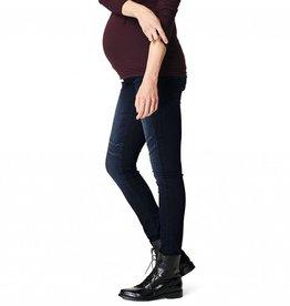 Avi Aged Blue Skinny maternity jeans