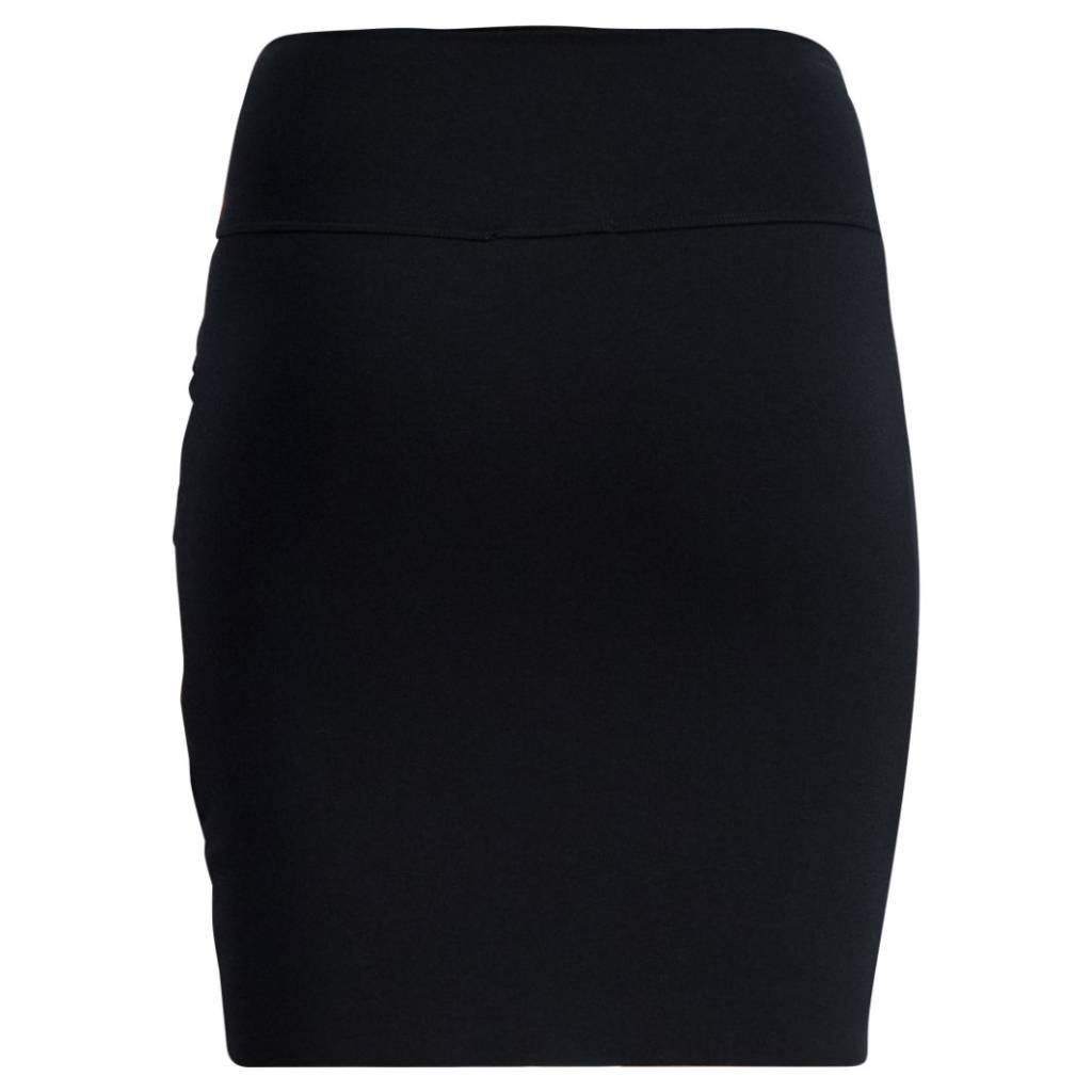 Queen Mum Black Wrapped maternity skirt