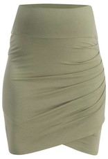 Queen Mum Olive Wrapped maternity skirt
