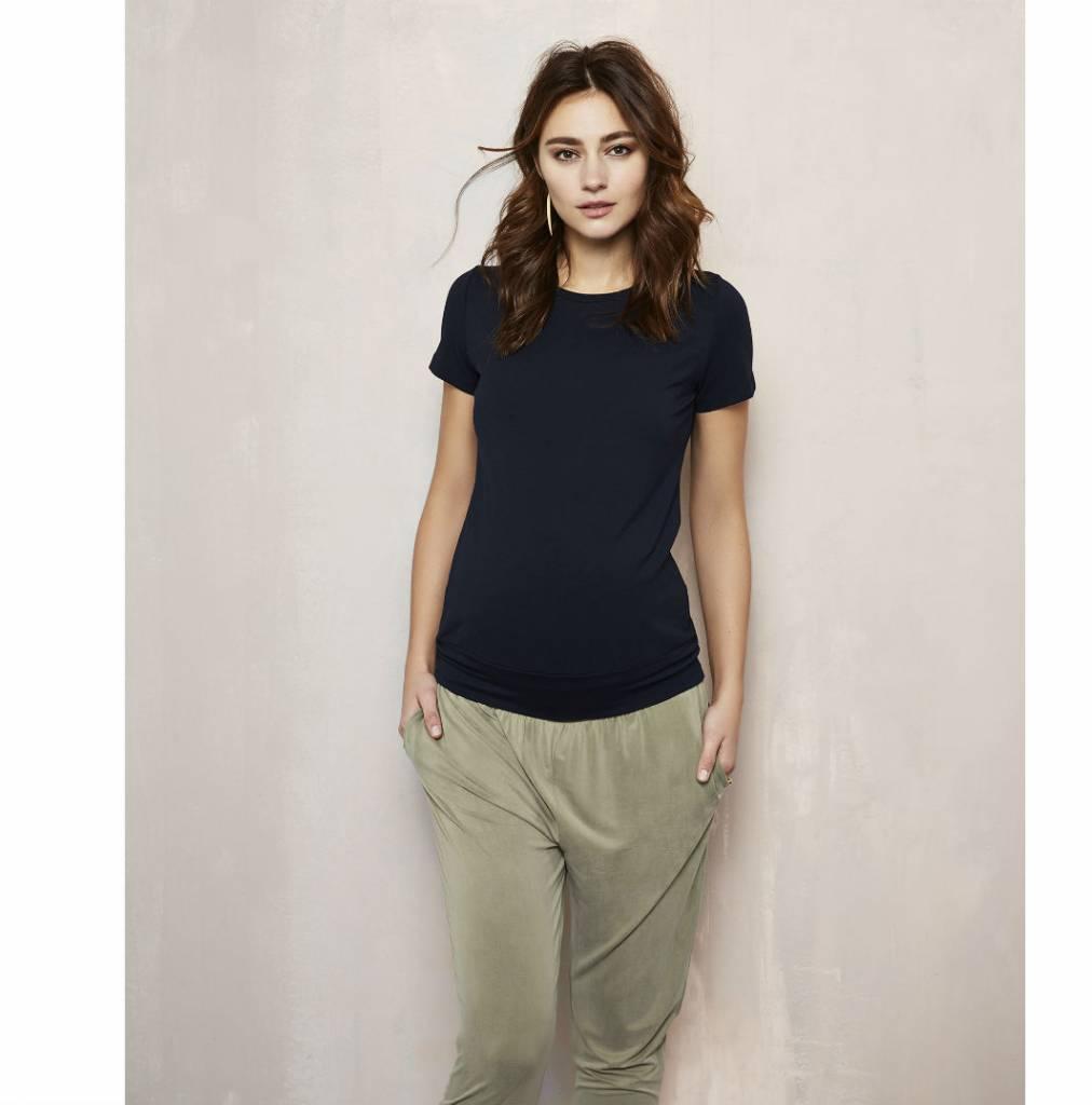 Queen Mum Olive maternity pants