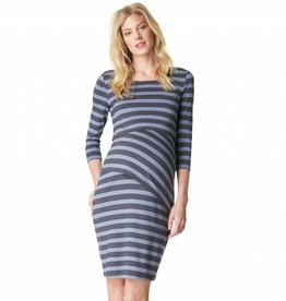 Aaike striped layered nursing dress