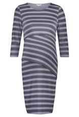 Noppies Aaike striped layered nursing dress