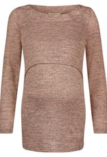 Noppies Angela nursing sweater in Blushmelange