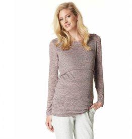 Angela nursing sweater in Blushmelange