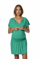 Queen Mum Short Sleeve maternity dress