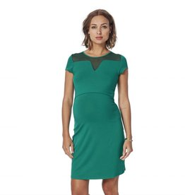 Mesh detail nursing dress MORE COLOURS