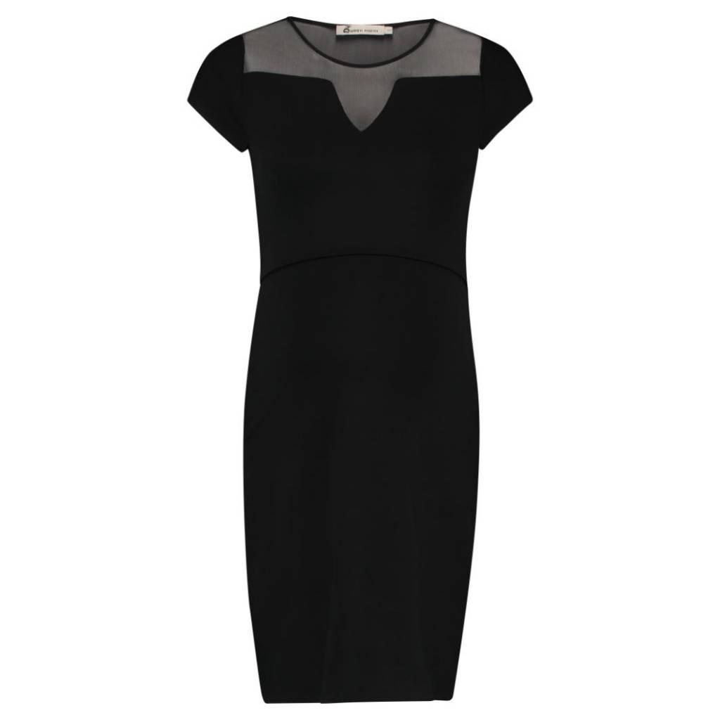 Queen Mum Mesh Detail Nursing Dress