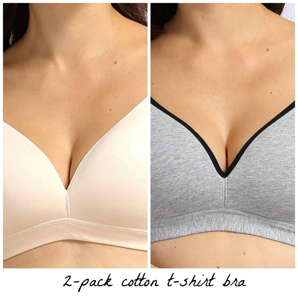 June & Dane Cotton bra 2 Pack