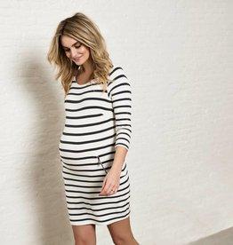 Anke Striped maternity dress
