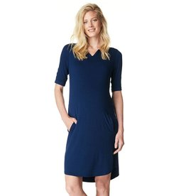 Angelique maternity dress in Navy