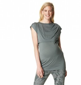 Bella nursing top in Light Army
