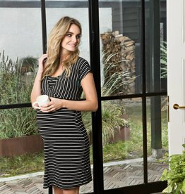 Beau striped nursing dress