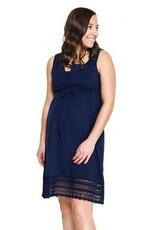 Momzelle Cecile cotton dress in Navy