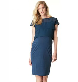 Daisy nursing dress in Navy