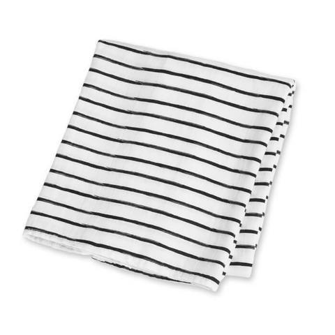 Lulujo Muslin blanket - Black Messy Stripe