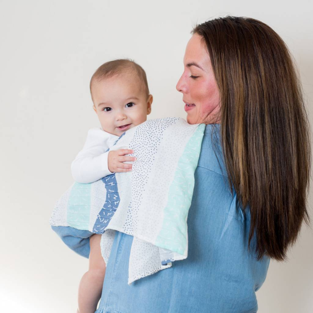 Lulujo Muslin blanket - Grey Spotted Stripe
