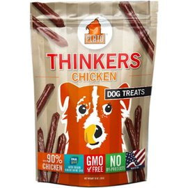 Plato Pet Treats Plato Thinkers Chicken Dog Treats, 10-oz Bag
