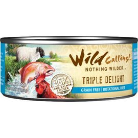Wild Calling Wild Calling Triple Delight 96% Lamb, Salmon & Chicken Grain-Free Canned Cat Food, 5.5oz Can