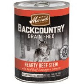 Merrick Pet Foods Merrick Backcountry Hearty Beef Stew Grain-Free Canned Dog Food, 12-oz Can