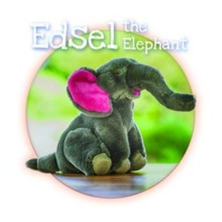 """Fluff & Tuff Inc. Fluff & Tuff Edsel Elephant Dog Toy 11"""""""