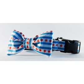Sophisticated Pup Sophisticated Pup Chicago Flag Bow Tie Collar