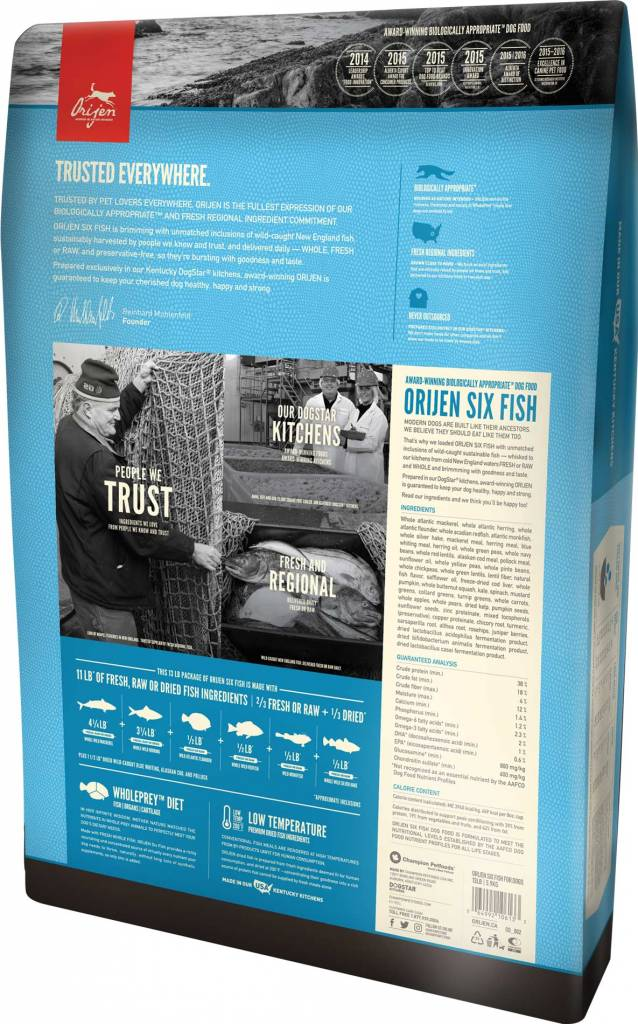 Orijen Orijen Usa Six Fish Grain Free Dry Dog Food Jameson Loves