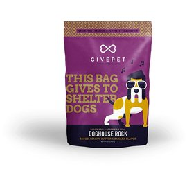 GivePet GivePet Doghouse Rock Grain-Free Dog Treat 12oz