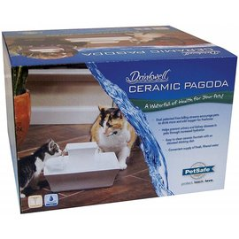 Petsafe Petsafe Drinkwell Ceramic White Pagoda Pet Fountain