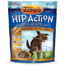 Zuke's Zuke's Hip Action Hip & Joint Support Peanut Butter Dog Treats, 6-oz