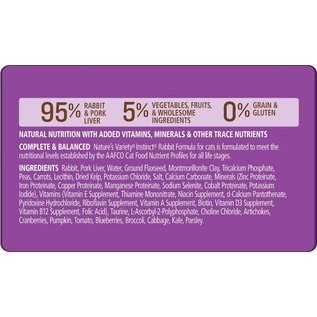 Nature's Variety Nature's Variety Instinct Rabbit Grain-Free Canned Cat Food
